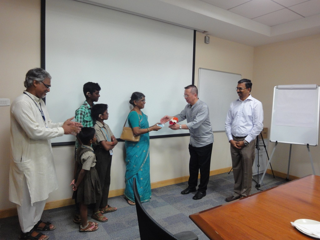 Donation to Hearing Impaired School for construction of a new building