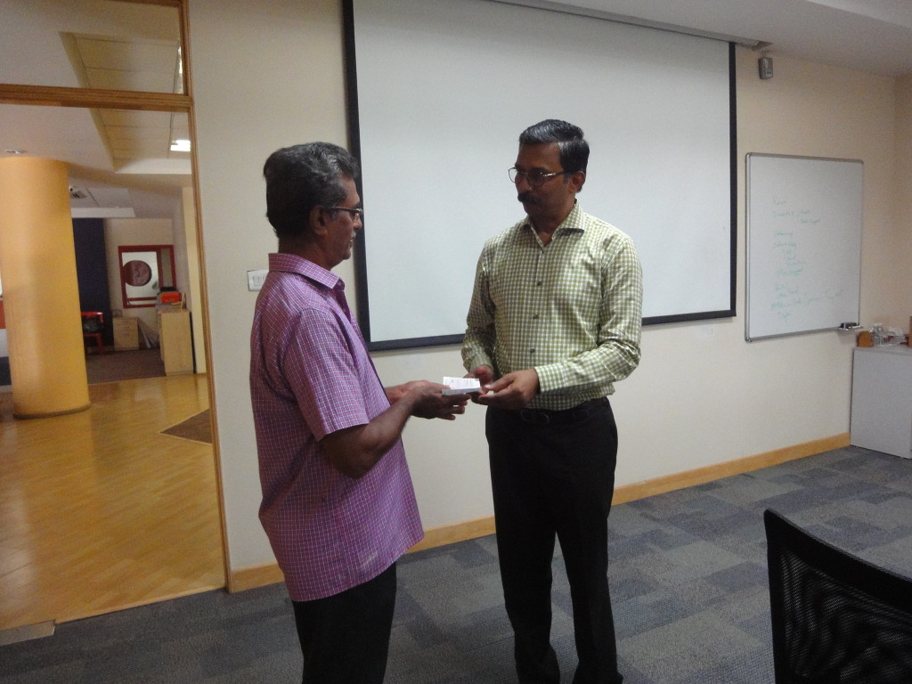 Mr. Sriram Subramanya, Managing Trustee, sponsored education aid to Priyanka's MBBS third-year studies.
