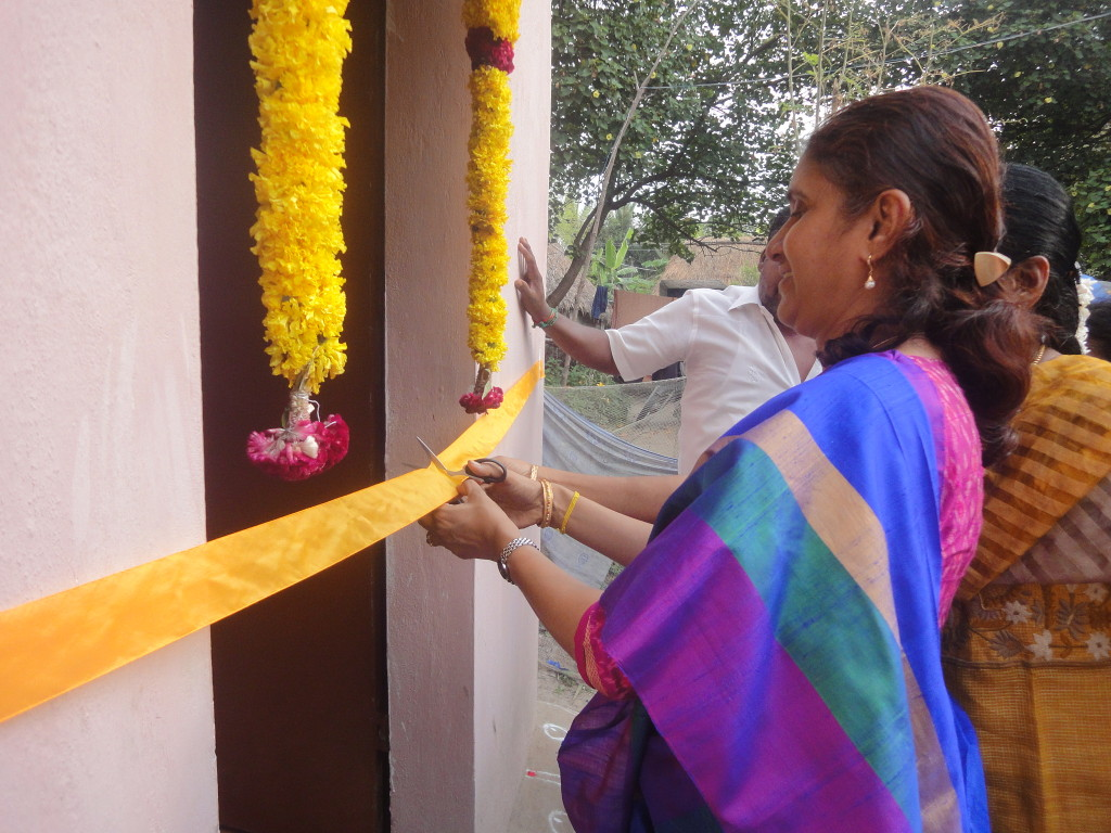The trustee of Sriram Charitable Trust inaugurated the newly constructed house in a function at Konjumangalam flood-affected village