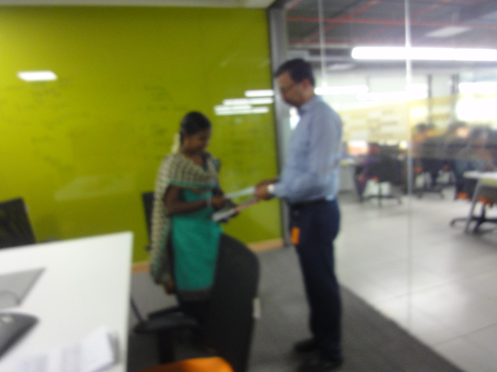 The Trustee donated a cheque to meet the marriage expenses of Venda, a poor village girl.